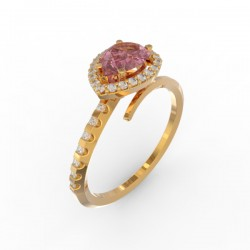 Toi & Moi ring Dubai single pink sapphire 29 dts