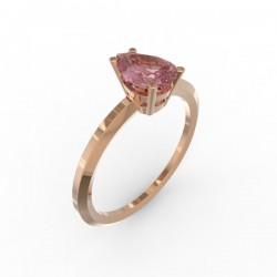 Solitaire Dubai hexagonal pink sapphire