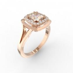 Bague joaillerie Manhattan diamant princesse 20 diamants