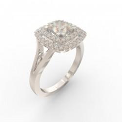Bague joaillerie Manhattan diamant princesse 48 diamants