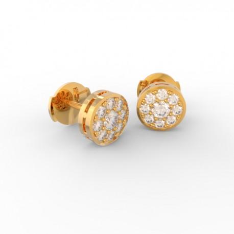 Gold Diamond pavé studs Paris collection