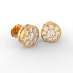 Gold Diamond pavé studs Paris collection