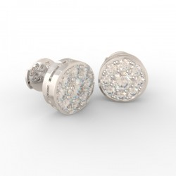 Platinum Diamond pavé studs Paris collection